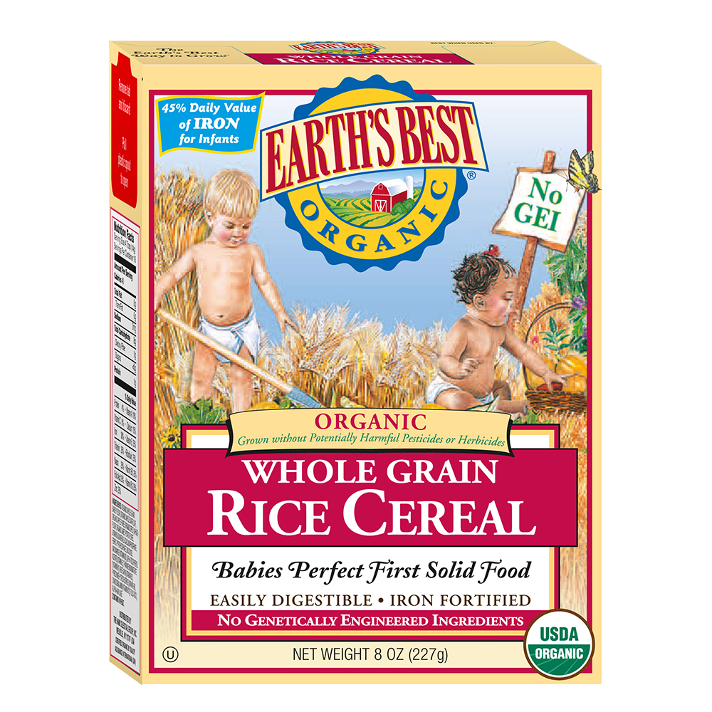 Earth's Best Organic Whole Grain Rice Cereal 8oz