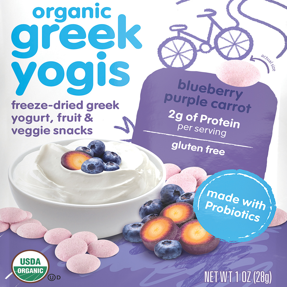 HappyBABY Organic Greek Yogis: Blueberry Purple Carrot