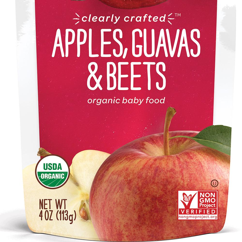 美國 HappyBABY 精透系列有機嬰兒食品: 蘋果+石榴+紅菜頭