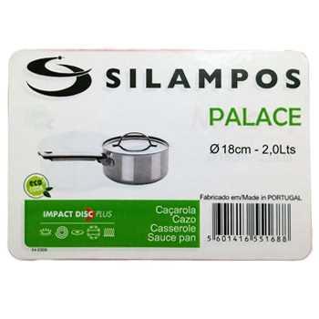 Silampos Palace系列18厘米/2公升不鏽鋼單柄煲連蓋
