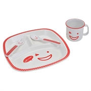 Naughty Kid dinnerware 4pcs set(Red)
