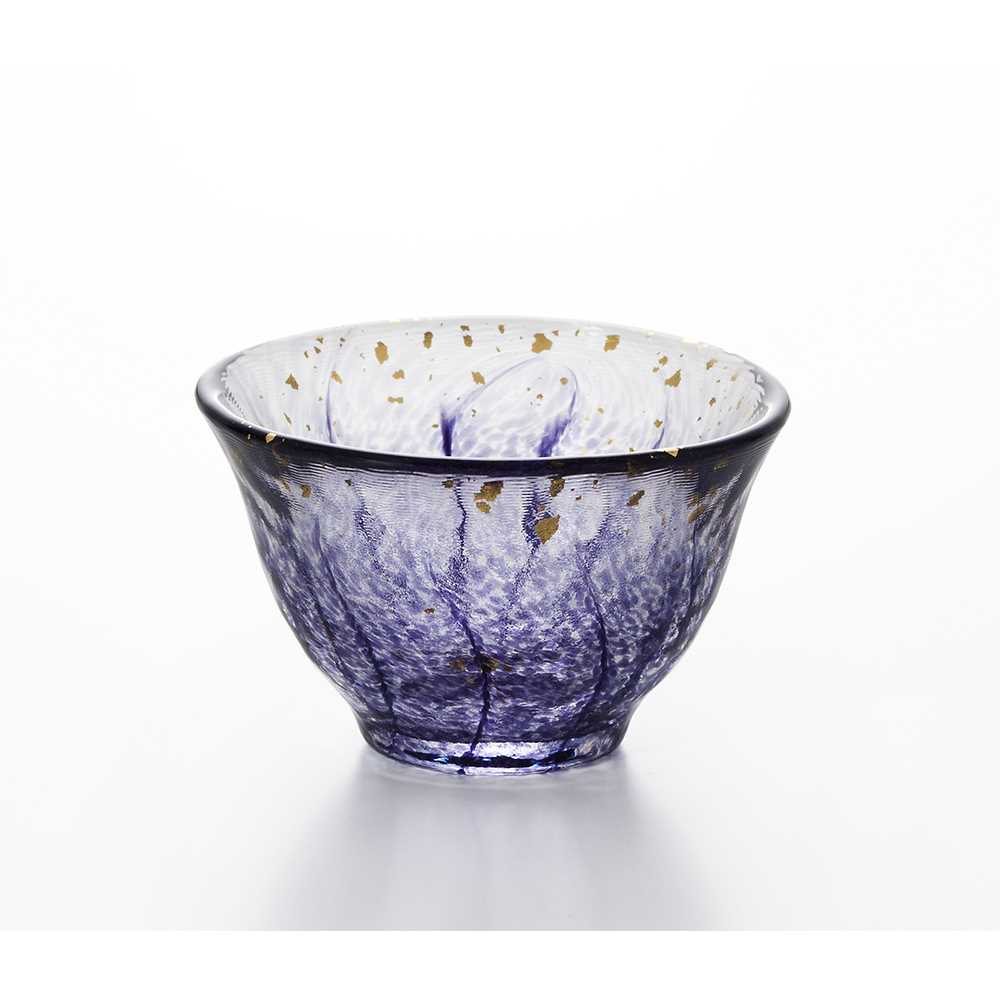 日本製造Aderia拼花清酒杯70ml(紫色)