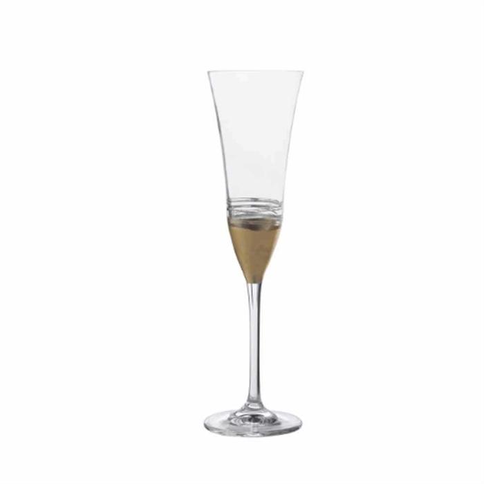 RCR  Gold Leaf Stem Glass#FL26990020006