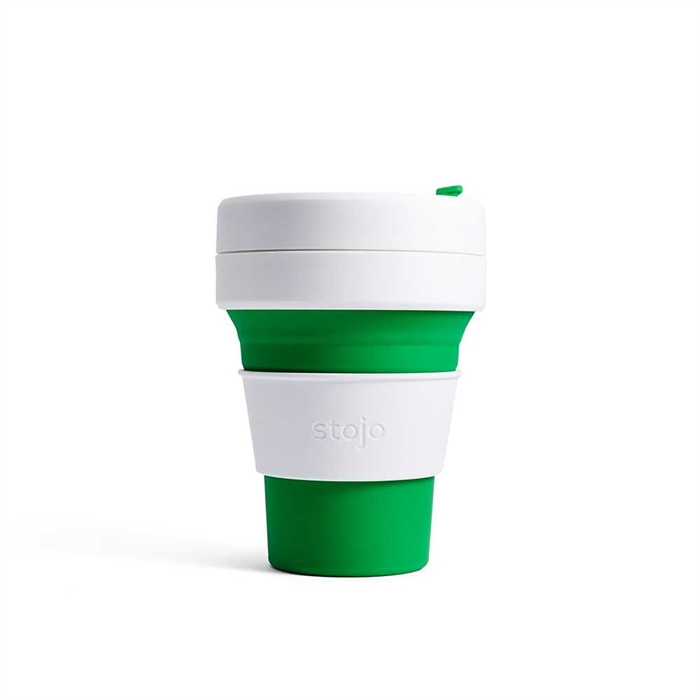 Stojo Pocket Cup 355ml (Green) S1-GRN
