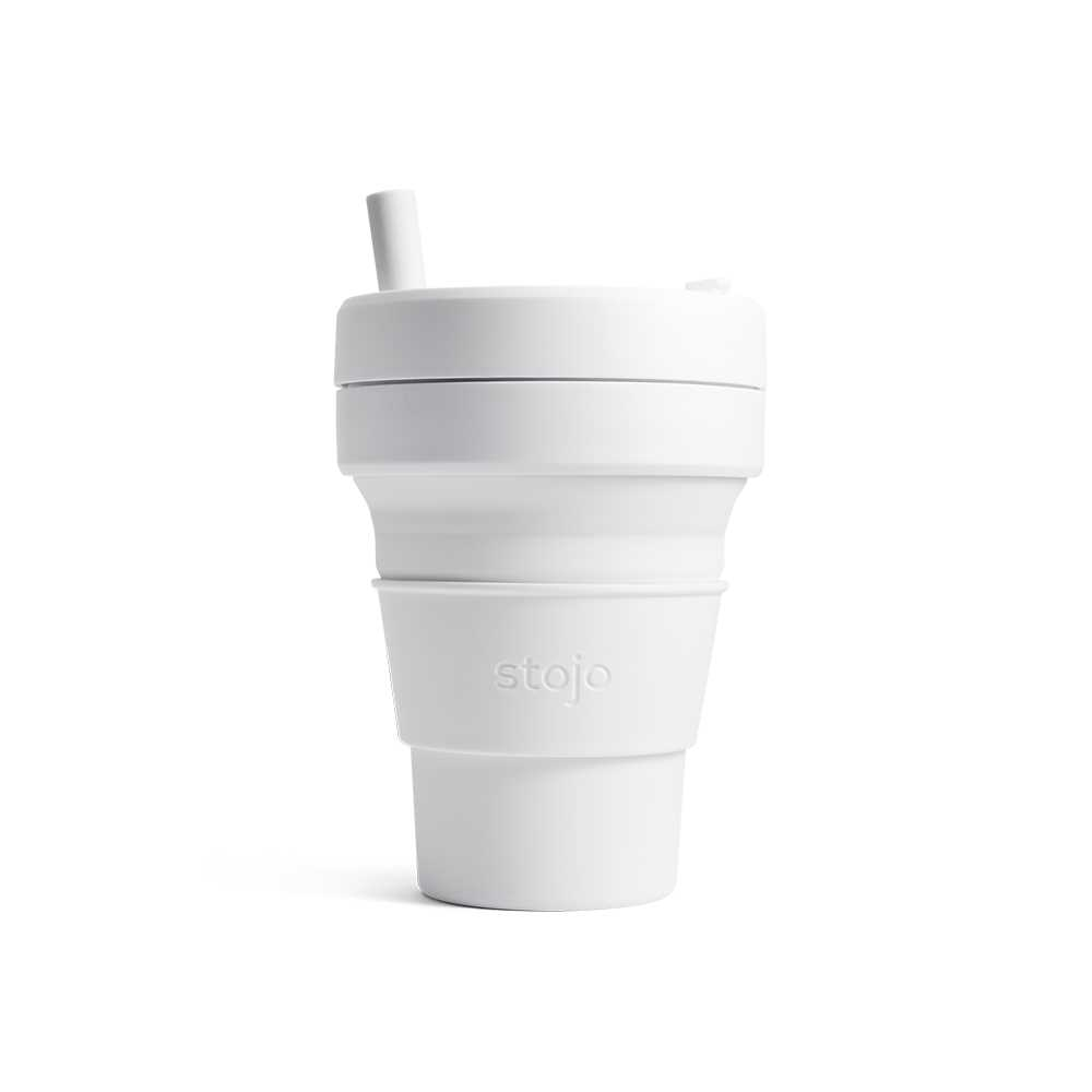 Stojo摺疊隨行杯470毫升(白色)S2-QTZ
