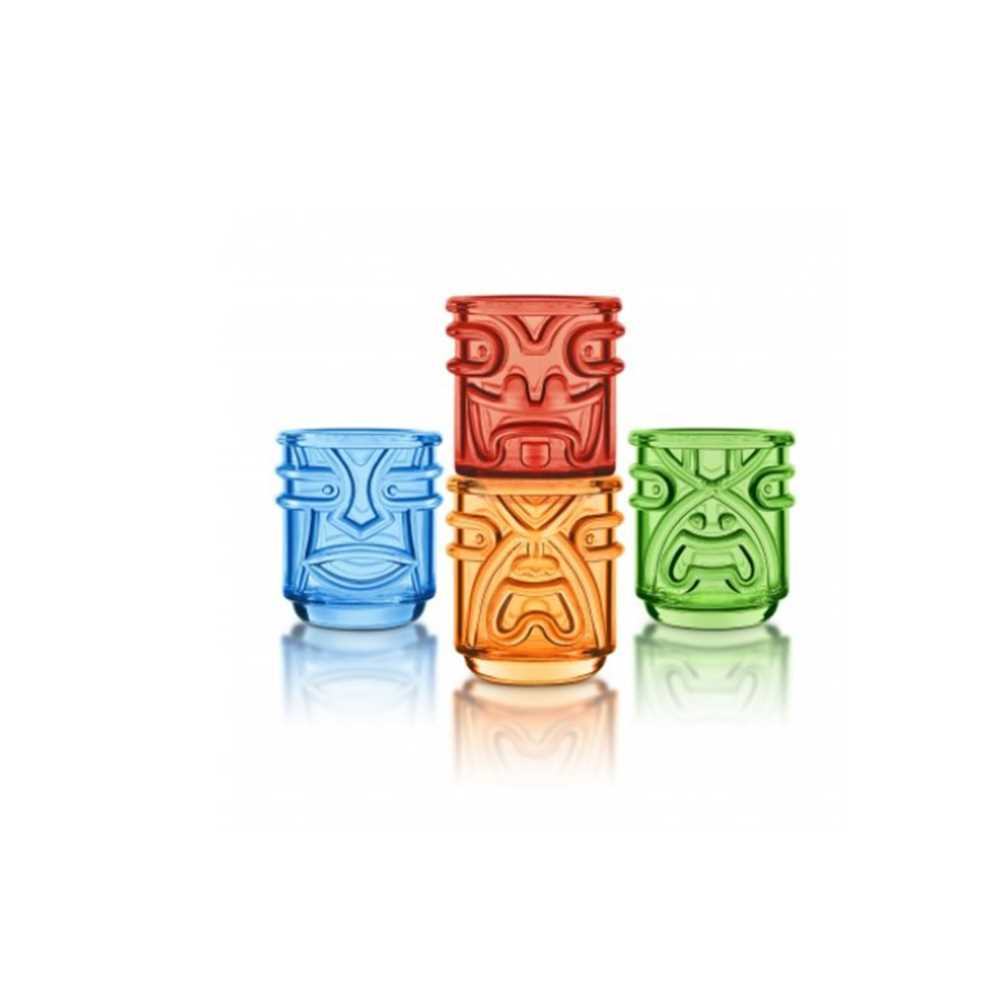 FINAL TOUCH 4色神像造型烈酒杯(4隻) TK5402
