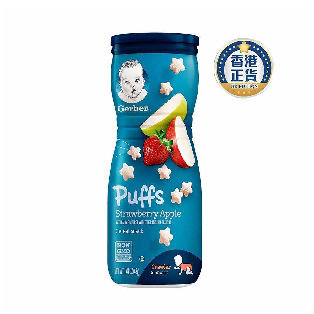 Gerber Puff Strawberry & Apple 42g 12278066 (2pcs)
