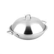 Carl Schmidt Sohn 32cm Non-Stick Chinese Wok with stainless Steel Lid With Gift