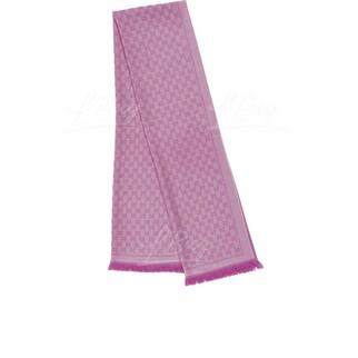 Gucci GG logo 粉紅色全羊毛圍巾