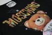 Moschino Couture 彩燈Logo 泰迪熊短袖T恤 黑色