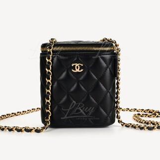 Chanel細號經典鏈條梳妝袋