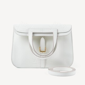 Hermes Halzan 25 Bag 白色 金扣