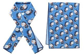 多啦A夢 藍色冷感毛巾