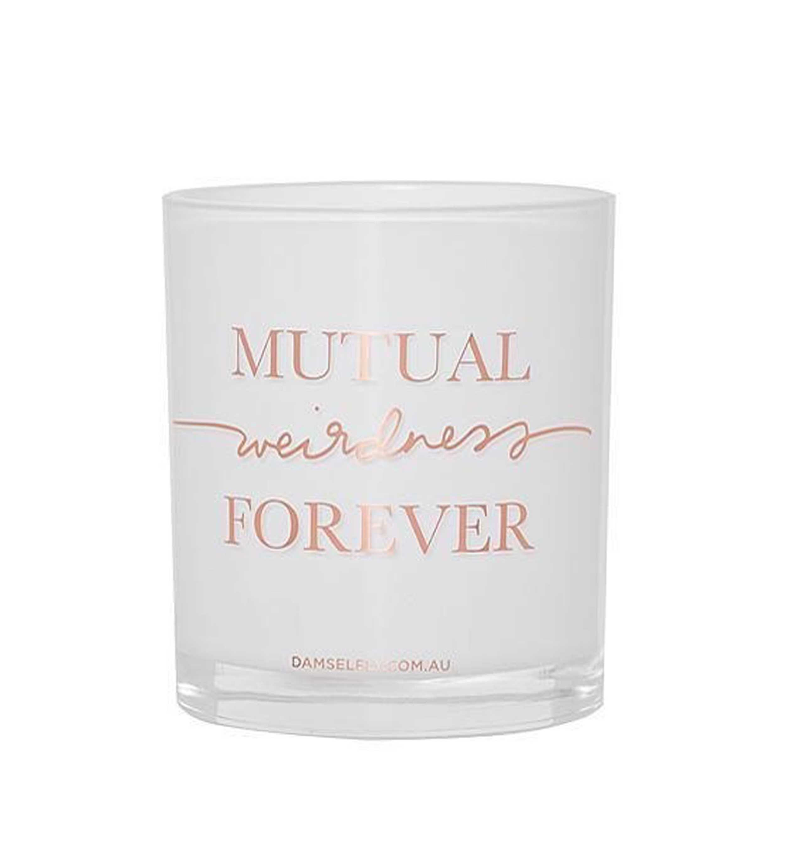 """Mutual Weirdness Forever""  Australia natural made, ""Love"" aromas candles 300g"