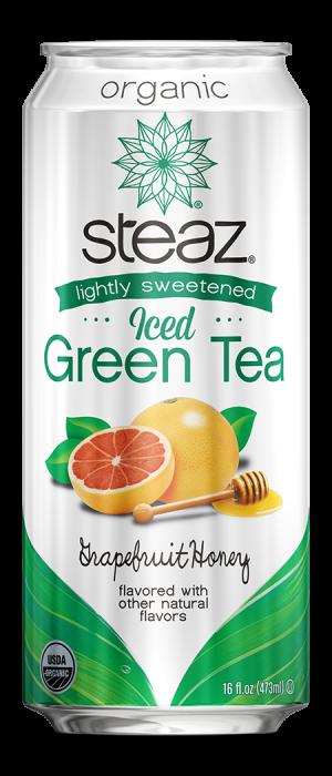 Steaz Organic Lighty Sweetened Iced Green Tea (Grapefruit Honey)