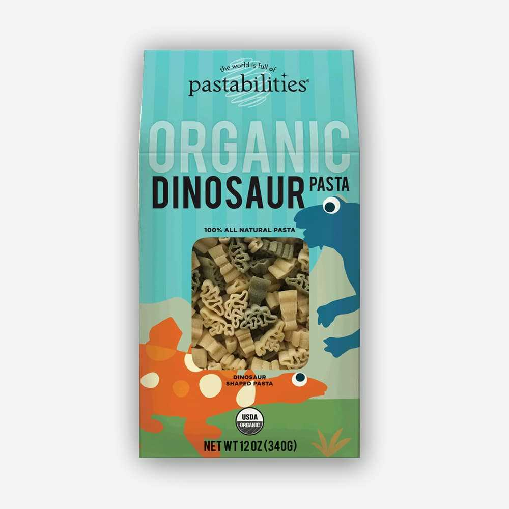 The Pasta Shoppe Organic Dinosaur Pasta (12oz)