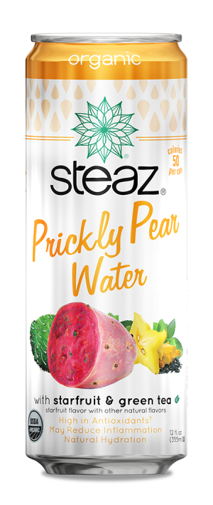 Steaz Organic Prickly Pear Water with Starfruit & Green Tea