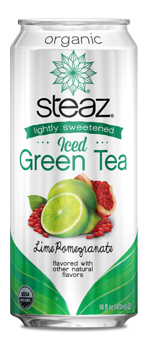 Steaz Organic Lighty Sweetened Iced Green Tea (Lime Pomegranate)