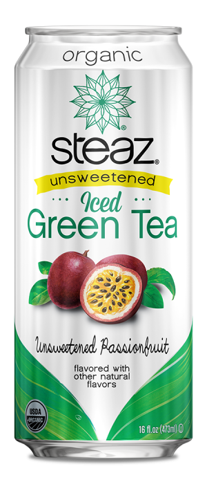 Steaz 有機無糖百花果有汽綠茶