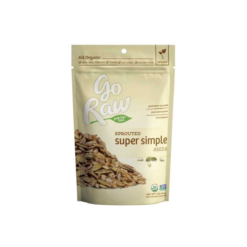 Go Raw Super Simple Sprouted Flax Snax 85g