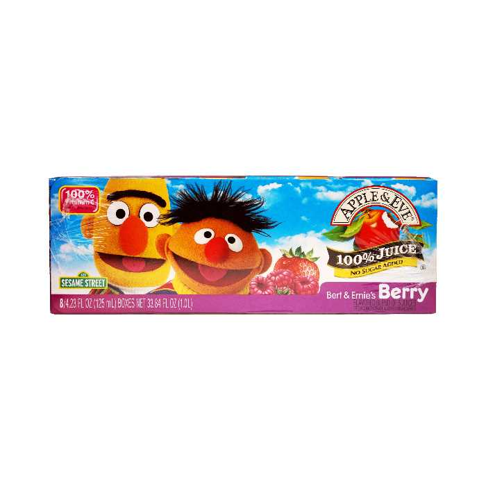 Apple & Eve Bert & Ernie's Berry juice (8x125mL)