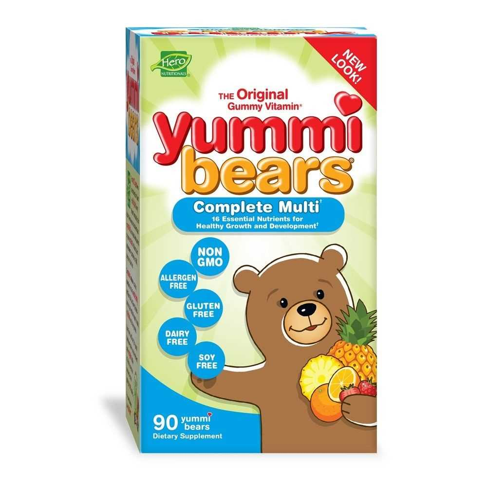 Hero Nutritionals Yummi Bears Complete Multi-Vitamin for Kids