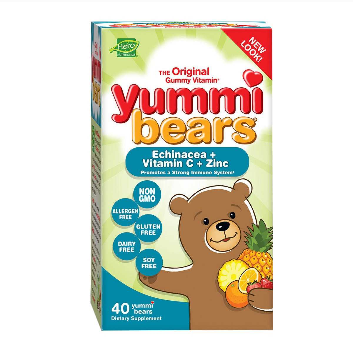 Hero Nutritionals Yummi Bears Echinacea w/ Vitamin C & Zinc