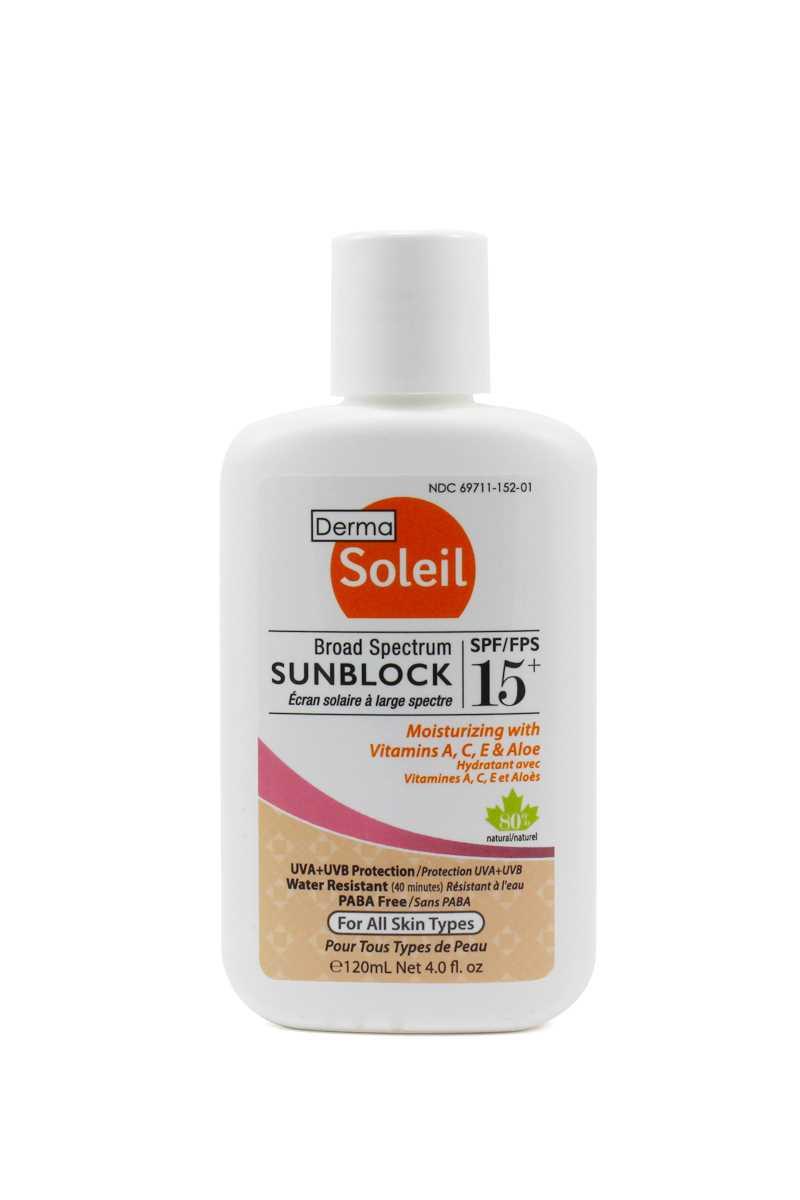 Derma Soleil 80%天然成人防曬霜SPF15