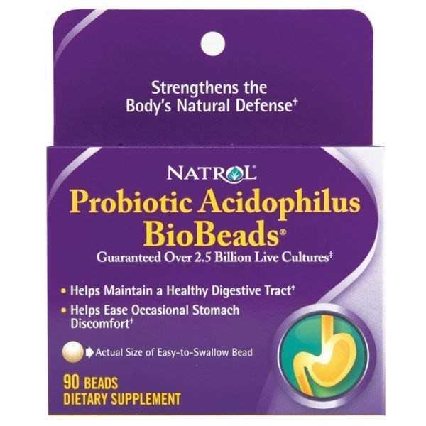 Natrol Probiotic Acidophilus BioBeads 90's