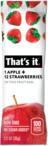 That's it - Apple + Strawberry Fruit Bar 35g