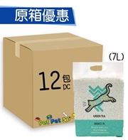 WeWe 韓國秒結豆腐貓砂7L(綠茶蘋果味)x12包
